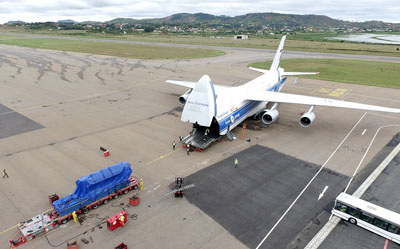 Volga-Dnepr An-124-100 Flights Deliver 11 Generators to Increase Power Supplies in Madagascar's Capital City