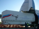 Volga-Dnepr An-124-100 Delivers Russian and Kazakh Satellites to Baikonur Cosmodrome Launch Site