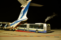 Bus stops in an IL-76TD-90VD and takes off for Kazakhstan