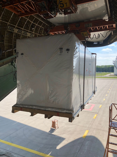 Volga-Dnepr Airlines ensures an intact transportation of bottle-filling equipment